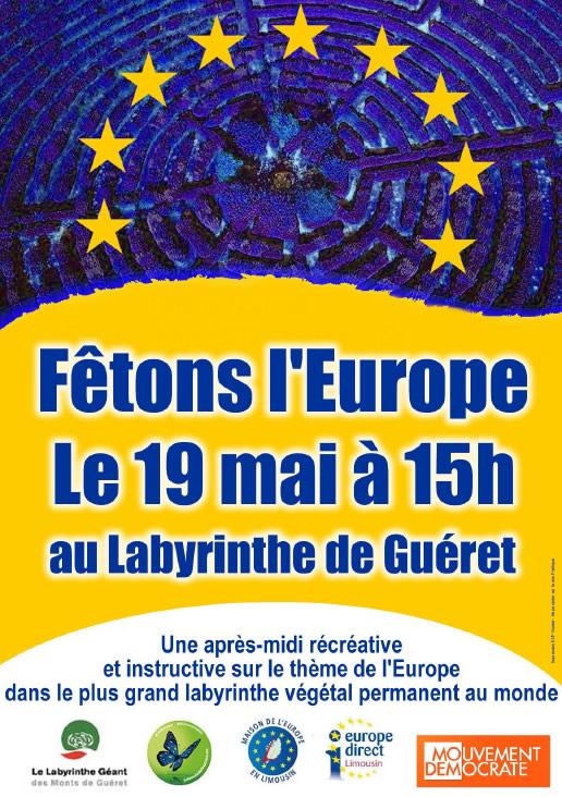 affiche 2018 fêtons l'Europe